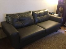 Couch Set (2pcs) / Grey Faux Leather in Oceanside, California
