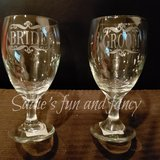 Bride and groom glasses in Vacaville, California