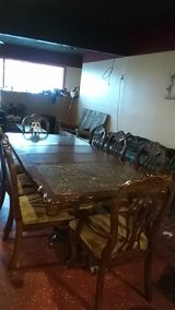 extra large 8 chair dining room table. in Leesville, Louisiana