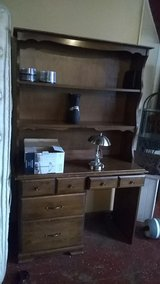 solud wood desk with high back in DeRidder, Louisiana