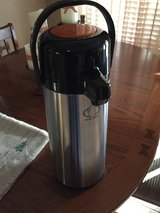 Large coffee container with pump, for guests in Alamogordo, New Mexico