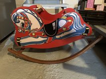 Beautiful Antique Toddler Rocking Horse in Excellent Condition in Aurora, Illinois