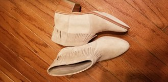 Makena Suede Fringe Booties Size 6 in Fort Campbell, Kentucky