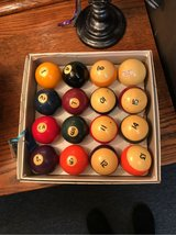 Vintage Set of 16 Belgium Bakelite Pool Balls in The Woodlands, Texas