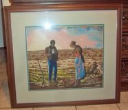 """Framed picture of Farmers frame size 28"""" X 32"""" with glass in needlepoint in Alamogordo, New Mexico"""