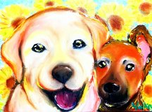 Painting Dog Portraits in Okinawa, Japan