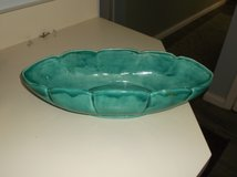 Oval Shaped Teal Ceramic Bowl in Naperville, Illinois
