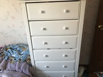 White Wooden Tall Dresser in Plainfield, Illinois