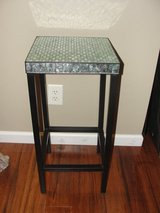 "TEAL ""MIRROR"" TILE BLACK WROUGHT IRON STAND in Camp Lejeune, North Carolina"