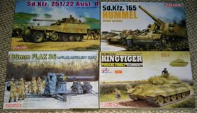 DRAGON 1/35 GERMAN W.W. II KITS: FLAK 36 88mm, KINGTIGER, HALF-TRACK in Camp Lejeune, North Carolina
