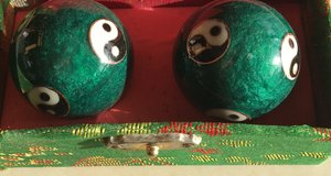 Chinese Chiming Baoding Ying/Yang Harmony Stress Relief Balls in Okinawa, Japan