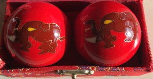 Chinese Chiming Elephant Baoding Harmony Stress Relief Balls in Okinawa, Japan