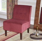 Linon Coco Accent Chair, Red (New In Box) in New Orleans, Louisiana