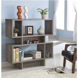 Modern Dark Taupe Wood Finish Bookcase Display Cabinet.FF-44321BC. in Los Angeles, California