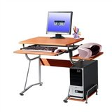 Compact Contemporary Computer Desk in Light Cherry Finish.FF-564322112CD. in Los Angeles, California