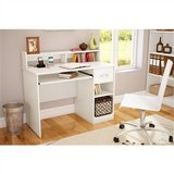 Contemporary Home Office Computer Desk in White Wood Finish.FF-786909990CD. in Los Angeles, California