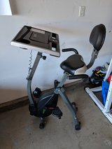 Desk bike workstation in Camp Pendleton, California