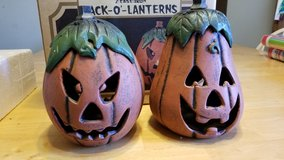 Cast iron pumpkins in Yorkville, Illinois