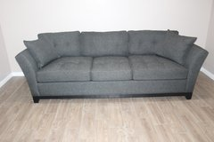 Tufted Dark Grey Sofa- EXCELLENT CONDITION! (FREE DELIVERY) in CyFair, Texas