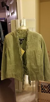 Dialogue Suede   Fringe Jacket Washable Size L NWT in Fort Campbell, Kentucky