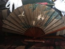 Asian fan with stand in Okinawa, Japan