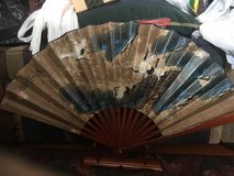Asian fan with stand 2 in Okinawa, Japan