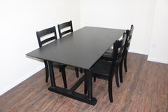 Black Table (Solid Wood) 4 Chairs Included in Kingwood, Texas