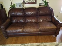 Leather couch from Darbys in Lawton, Oklahoma