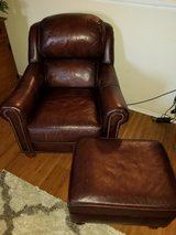 Leather chair and ottoman in Lawton, Oklahoma