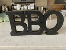 bbq wood sign in Alamogordo, New Mexico