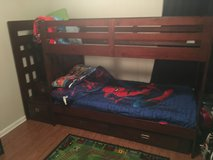 Cherry wood bunk beds w/ stairs in Leesville, Louisiana