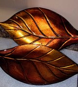 2 serving trays Amber colored leaves in Byron, Georgia