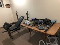 exercise bench and all weight in Elgin, Illinois