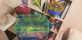Hamster cage w supplies in Baytown, Texas
