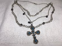 image 0  image 1  image 2 Vintage Necklace Silver Turquoise Cross Multiple Chains and Lengths in Kingwood, Texas