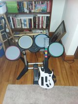 Wii Rock Band Drums and Guitar in Fort Campbell, Kentucky