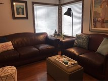 Genuine leather sofa and loveseat. in Camp Pendleton, California