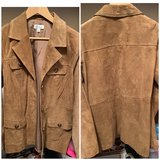 D&Co Suede Jacket Size L in Orland Park, Illinois