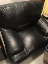 Black leather chair in Fort Riley, Kansas