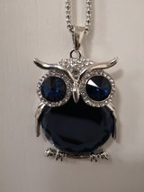 Crystal Owl Pendant & Chain in Lakenheath, UK