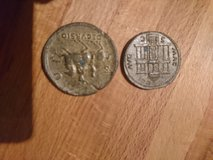 reproduction coins in Lakenheath, UK