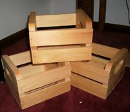 3 WOOD CRATE  BOXES - UNFINISHED - NEW in Bellevue, Nebraska