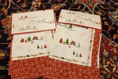 Pimpernel Christmas cloth napkins in Ramstein, Germany