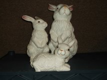 Set of three china rabbits in Joliet, Illinois