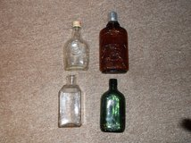 Antique glass bottles in Joliet, Illinois