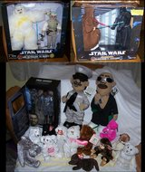 Lot of new beanie, plush dolls & action figure sets in Barstow, California