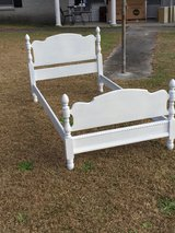 antique chalk painted twin size bed in Camp Lejeune, North Carolina