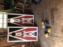 Corn hole boards and authentic bags in Cherry Point, North Carolina