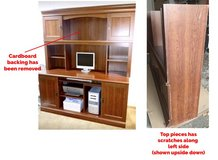 FREE Desk with hutch - turn it into a craft storage table! in Great Lakes, Illinois
