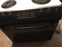 GE slid-in electric range in Byron, Georgia